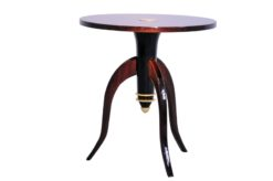 Art Deco, Table, Sidetable, Tripod, Furniture, Design, Pair, Furniture, Living room, elegant, brass, curved legs, france,