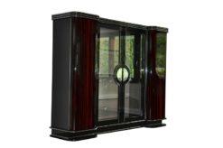 Art Deco, Cabinet, Furniture, Macassar, Veneer, Paris, Antique, Vintage, Storage, Silk, Design, elegant, curved doors, living room