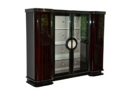 Art Deco, Cabinet, Furniture, Macassar, Veneer, Paris, Antique, Vintage, Storage, Silk, Design, elegant, curved doors, living room