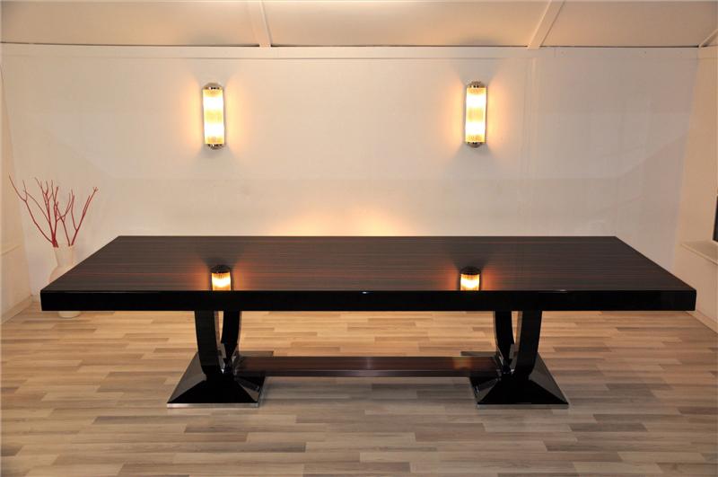 Art Deco, Furniture, Living Room, Table, Macassar, High Gloss, Design