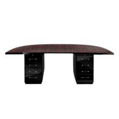 Art Deco, Large, Style, Desk, Macassar, Tabletop, Design, Drawes, chrome, handles, tabletop, veneer, storage space, extravagant