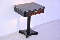 Art Deco, console, table, walnut, drawer, petite, high gloss, furniture, design, polsiehd, restoration, living room, antique