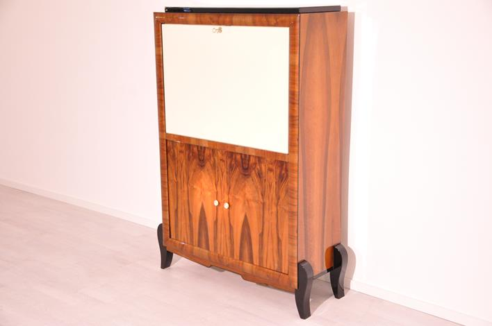 Art Deco Walnut Cabinet or Bureau Original Antique Furniture