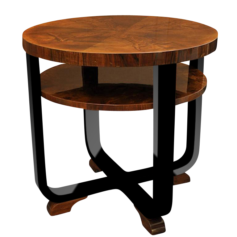 exclusive art deco side table walnut wood original antique furniture. Black Bedroom Furniture Sets. Home Design Ideas