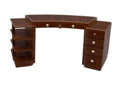 Desk, furniture, living room, France, Art Deco, Macassar, veneer, furniture, brown, design, luxury, classic, elegant, office