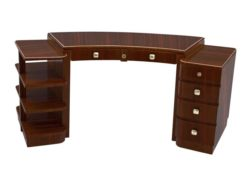 Desk, furniture, living room, France, Art Deco, Macassar, veneer, furniture, brown, design, luxury, classic, elegant, office
