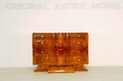 Art Deco, commode, chest of drawers, dresser, french, walnut, wood, high gloss, finish, design, furniture, storage, bedroom, brass