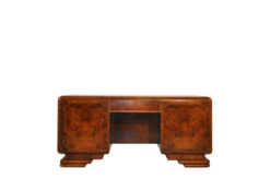 Desk, furniture, office, France, art deco, walnut, veneer, furniture, brown, design, luxury, classic, unrestored, office,