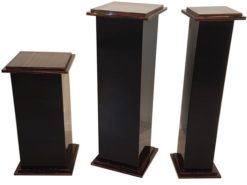 Pillars, France, Art Deco, Macassar, Veneer, Furniture, brown, Design, Luxury, Black, Saul, High gloss, black, Living Room