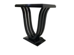 Black, pyramid mahogany, console, art deco, great foot, living room, design, replicas, luxury, veneer, mahogany, piano lacquer