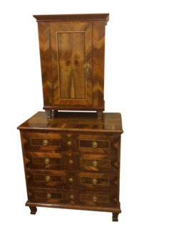 Louis-seize, with attachment, living room, wardrobe, commode, walnut, veneer, ornaments, ornamentations, rare, great, big, brown