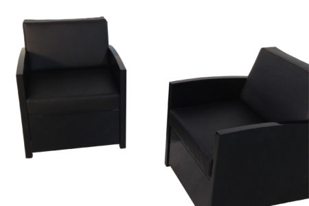 New upholstered armchairs