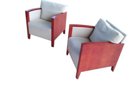 Design armchairs before restoration