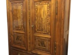 Louis-seize, baroque, living room, wardrobe, cabinet, walnut, veneer, ornaments, ornamentations, rare, great, big, brown,