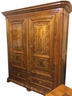 Louis-seize, baroque, living room, wardrobe, cabinet, walnut, veneer, ornaments, ornamentations, rare, great, big, brown,