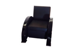black, red, high-gloss, armchair, art deco, great foot, living room, lacquer, luxury, veneer, chrome lines, piano lacquer, rosewood