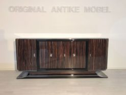 brown, high gloss, sideboard, art deco, great foot, living room, chrome handles, lacquer, luxury, veneer, chrome lines, piano lacquer