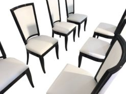 white, high gloss, chairs, art deco, great foot, living room, leather cover, lacquer, luxury, veneer, elegant, elegant design, piano lacquer