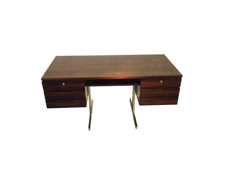 Brown High Gloss Desk Bauhaus Great Foot Living Room