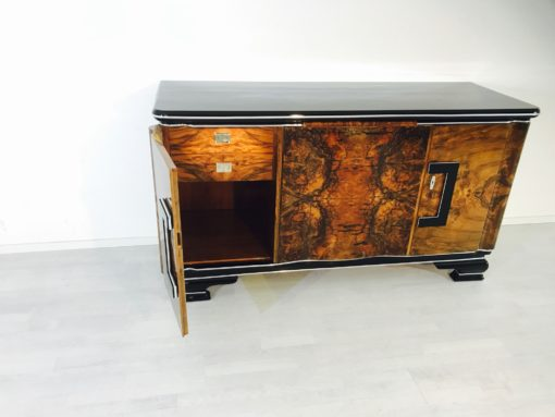 Art deco buffet in walnut original antique furniture - Deco vintage belgique ...