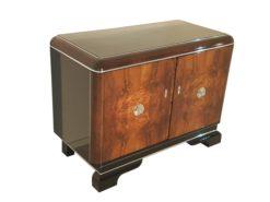 Art Deco, Commode, Storage, Livingroom, Design, Interior Design, Walnut, Chrome Handles, Doors, Veneer, Restoration, Luxurious