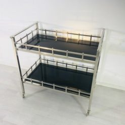 Bauhaus, Furniture, Bar, Cart, rollable, Design, Interiordesign, chromed, living room, original, glass paltes, serving, hotel