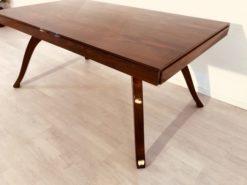 Art Deco, Table, Dining, Livingroom, Design, Furniture, Antiques, Interior, Interiordesign, vurved legs, Walnut, Wood, Restauration