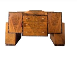 Art Deco, bar cabinet, buffet, drybar, credenza, sideboard, original, rootwood, vintage, interior, interiordesign, spain, 1920s, storage
