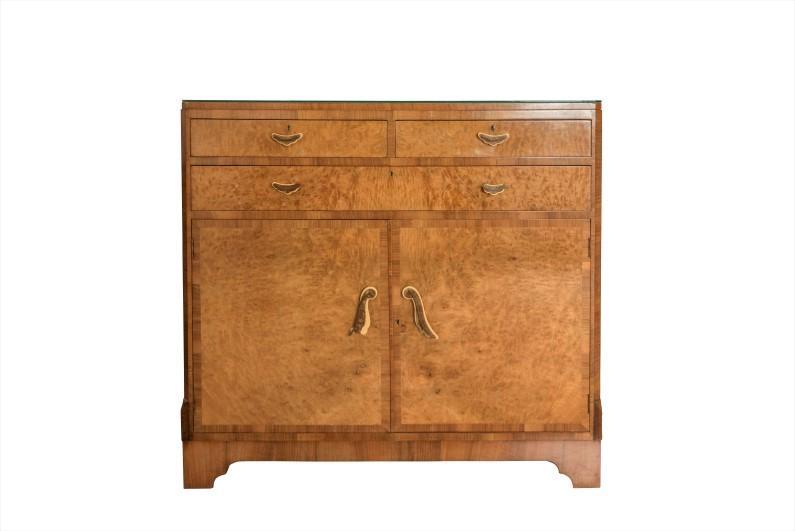 1920s Art Deco Walnut Dresser