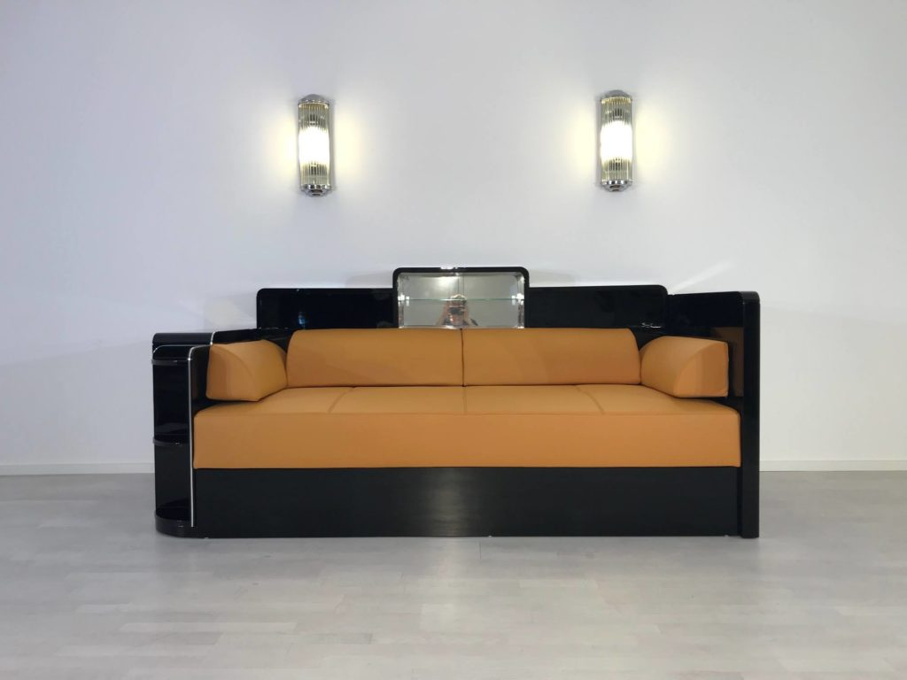 classic art deco daybed for a berlin hotel original antique furniture. Black Bedroom Furniture Sets. Home Design Ideas