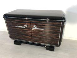 Art Deco, Commode, Macassar, Design, Interiordesign, Chrome, handles, details, furniture, storage, small, petite, elegant, living room, antiques