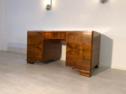 Art Deco, furniture, design, desk, burl wood, walnut, french, interiordesign, home, decor, polish, finish, veneer, storage, office, living room