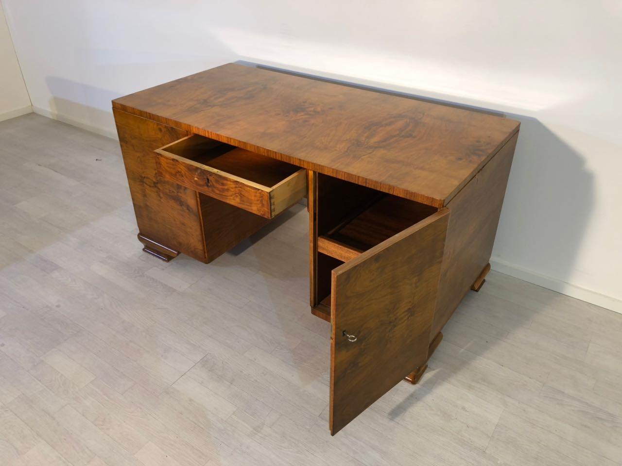 Art Deco Furniture Design Desk Burl Wood Walnut French