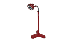 Bauhaus, Midcentury, Vintage, Design, doctors lamp, standing lamp, interiordesign, lighting piecs, red, living room, furniture