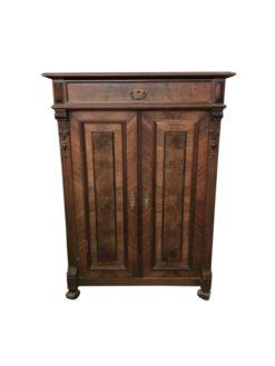 walnut, walnut, wood, dresser, brown, antique, unrestored, living room, elegant, design, veneer, pattern, luxury, interior space