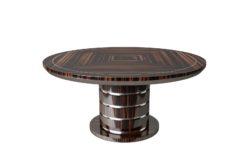 Deco style, Art Deco, furniture, design, interior desing, luxury furniture, macassar wood, chrome details, grain, check, veneer