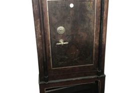 safe, dresser, brown, antique, unrestored, living room, elegant, design, veneer, pattern, luxury, open space, large, stable