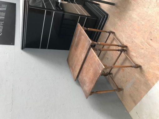 table, nesting table, unrestored, brown, great foot, veneer, antique, living room, elegant, pattern, luxury, large, stable