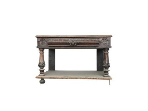 side table, unrestored, brown, great foot, veneer, antique, living room, elegant, pattern, luxury, large, stable, pattern