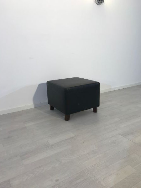 black, leather, stool, leather stool, living room, sessehocker, footstool, design, unrestored, elegant, great foot, luxury