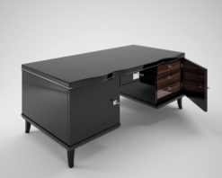 Art Deco Desk with Macassar Drawers, Design, furniture, luxurious, art, black, pinao lacquer, drawers, style, interior design, home decor