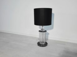 Chrome Art Deco style table lamp, lighting pieces, decoration, piano lacquer, design, deco, decoration, home decor, interior design