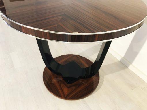 Custom Art Deco Design Side Table, High gloss, palisander wood, high end, luxurious, style, living room, bedroom, custom furniture, interior design