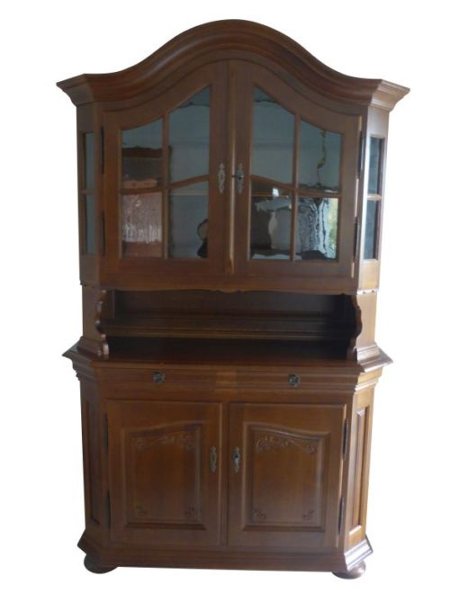 Oak, high gloss, table, antique, chair, chairs, display cabinet, glass cabinet, restored, solid, luxury, veneer, dining room, furniture