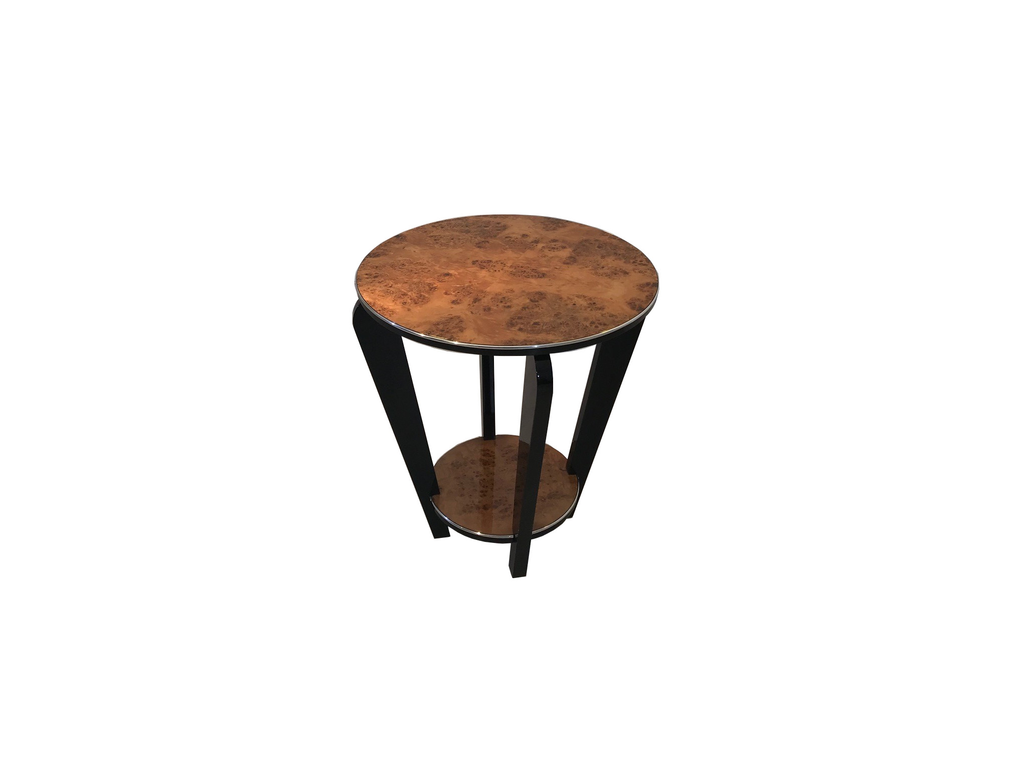 Burl Art Deco Side Table Original Antique Furniture