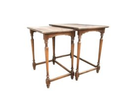 table, nesting table, unrestored, brown, great foot, veneer, antique, living room, elegant, pattern, luxury, large, stable