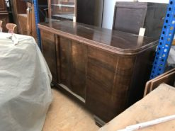 sideboard, unrestored, brown, great foot, veneer, antique, living room, elegant, pattern, luxury, large, stable, pattern, grain