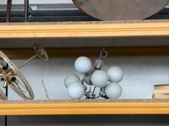 Chandelier, unrestored, white, great foot, veneer, antique, living, elegant, pattern, luxury, large, stable, pattern, metal
