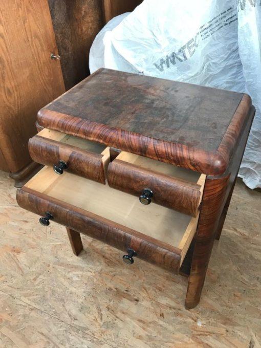 side table, unrestored, brown, great foot, veneer, antique, living, elegant, pattern, luxury, large, stable, pattern, walnut