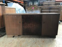 sideboard, unrestored, brown, great foot, veneer, antique, living, elegant, pattern, luxury, large, stable, pattern, dark